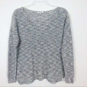 MADEWELL GRAY PULLOVER SWEATER SZ S
